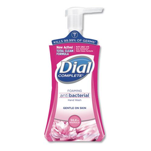 Dial® Antibacterial Foaming Hand Wash, Silk and Magnolia, 7.5 oz Pump Bottle, 8/Carton