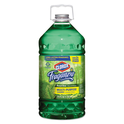 Clorox® Fraganzia Multi-Purpose Cleaner, Forest Dew Scent, 175 oz Bottle, 3/Carton