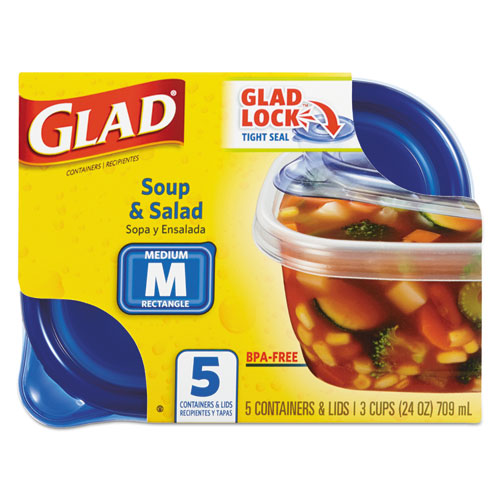 CLO60796 Glad Soup and Salad Food Storage Containers - Zuma