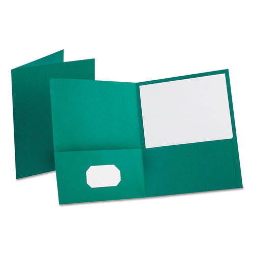 Leatherette Two Pocket Portfolio, 8 1/2 x 11, Teal, 10/PK