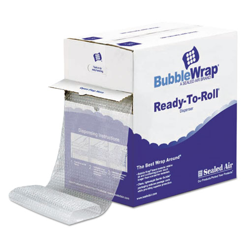 Bubble Wrap Cushioning Material in Dispenser Box, 3/16 Thick, 12 x 175 ft.