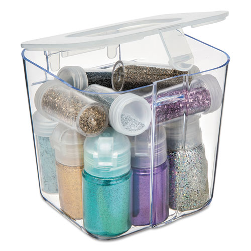 Stackable Caddy Organizer Containers, Small, Clear - Cartridge Savers