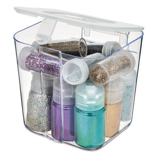 Stackable Caddy Organizer Containers, Small, Clear