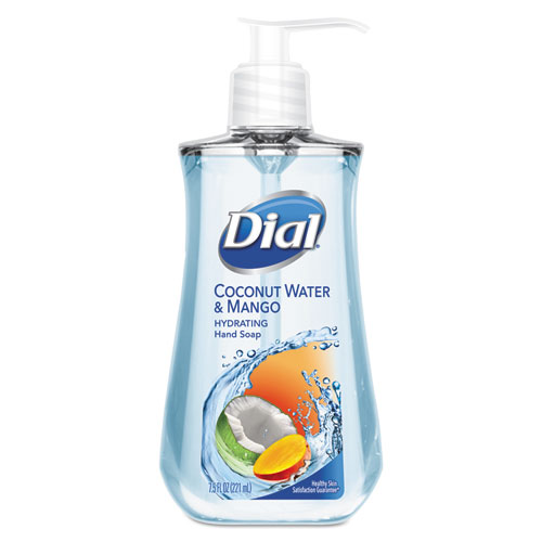 Dial® Liquid Hand Soap, 7 1/2 oz Pump Bottle, Coconut Water & Mango