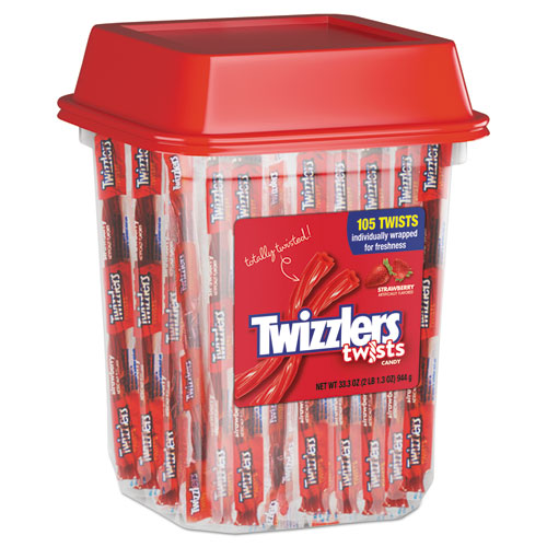 Twizzlers® Strawberry Twizzlers Licorice, Individually Wrapped, 2lb Tub