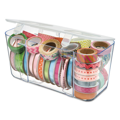 Stackable Caddy Organizer Containers, Medium, Clear