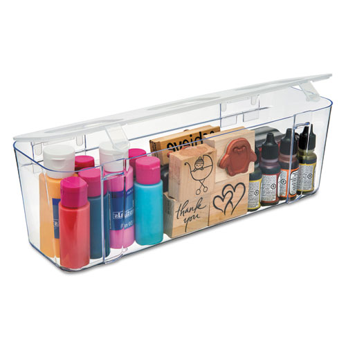 Stackable Caddy Organizer Containers, Large, Clear - Cartridge Savers