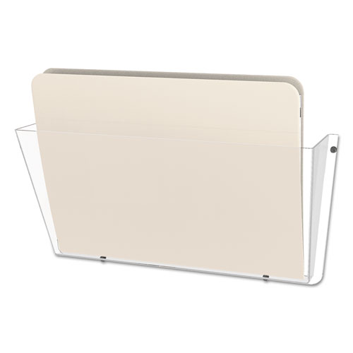 Unbreakable DocuPocket Wall File, Letter, 14 1/2 x 3 x 6 1/2, Clear