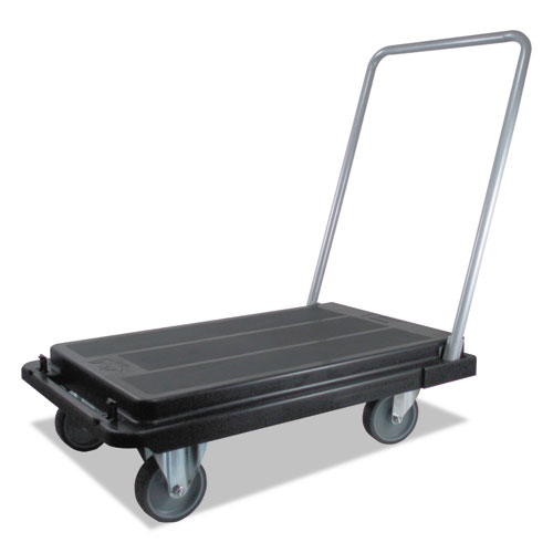 Heavy-Duty Platform Cart, 300 lb Cap, 21 x 32.5 x 36.75, Black