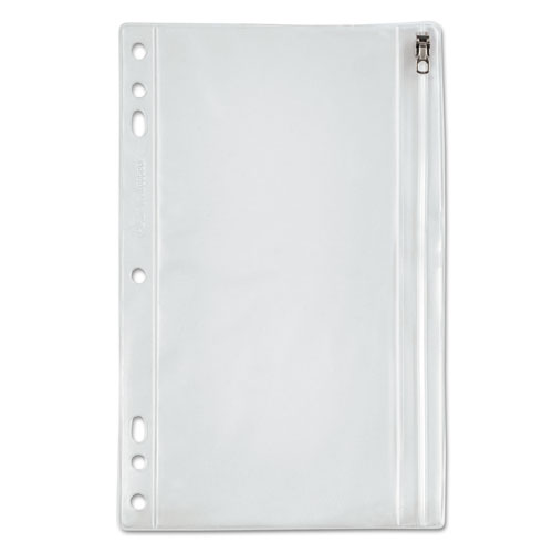 Zippered Ring Binder Pocket, 9 1/2 x 6, Clear
