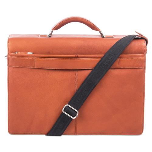 """Sartoria Medium Briefcase, 16.5"""" x 5"""" x 12"""", Leather, Cognac"""