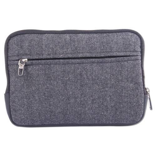 "Matt Tablet Sleeve, 7.5"" x 0.75"" x 7.5"", Polyester, Black/Gray"