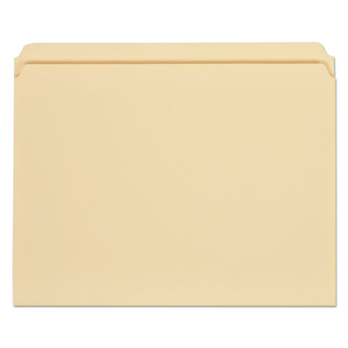 Top Tab Manila File Folders, Straight Tab, Letter Size, 11 pt. Manila, 100/Box | by Plexsupply