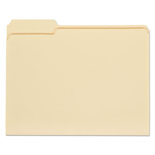 Top Tab Manila File Folders, 1/3-Cut Tabs, Left Position, Left Position, Left Position, Letter Size, 11 pt. Manila, 100/Box | by Plexsupply