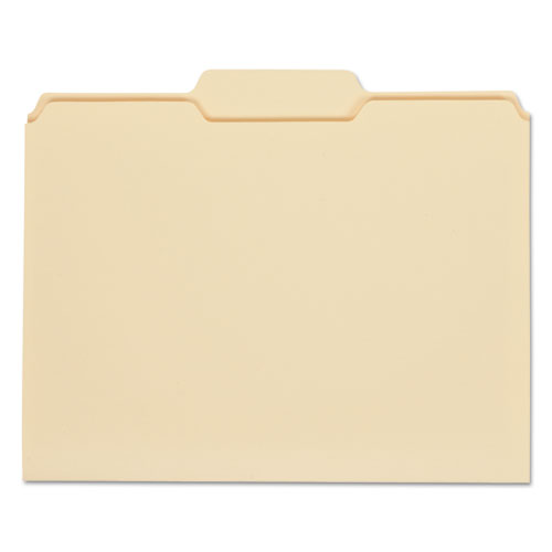 Top Tab Manila File Folders, 1/3-Cut Tabs, Center Position, Letter Size, 11 pt. Manila, 100/Box | by Plexsupply