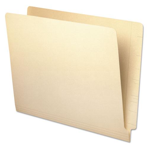 Deluxe Reinforced End Tab Folders, Straight Tab, Letter Size, Manila, 100/Box