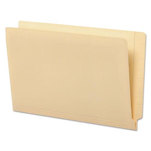 Deluxe Reinforced End Tab Folders, Straight Tab, Legal Size, Manila, 100/Box