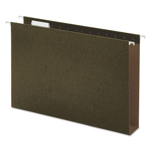 Box Bottom Hanging File Folders, Legal Size, 1/5-Cut Tab, Standard Green, 25/Box