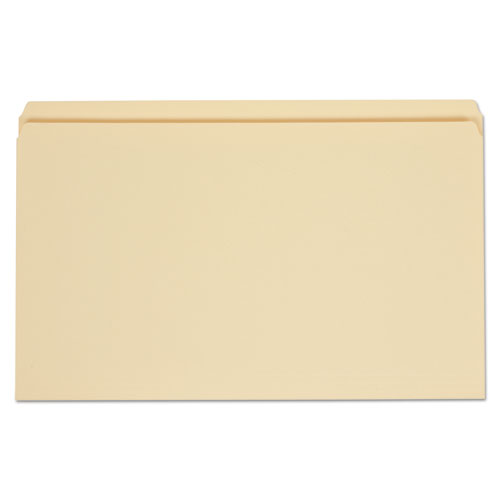 Top Tab Manila File Folders, Straight Tab, Legal Size, 11 pt. Manila, 100/Box | by Plexsupply
