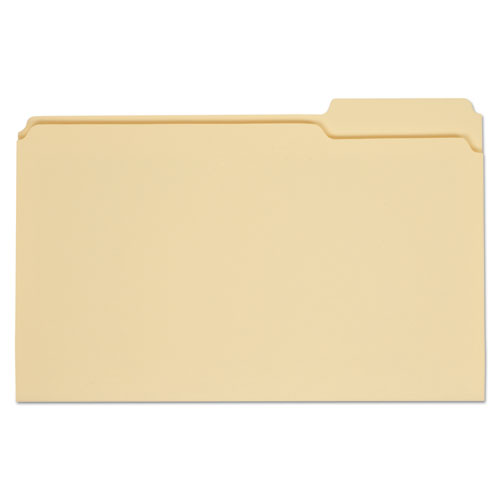 Top Tab Manila File Folders, 1/3-Cut Tabs, Right Position, Legal Size, 11 pt. Manila, 100/Box | by Plexsupply