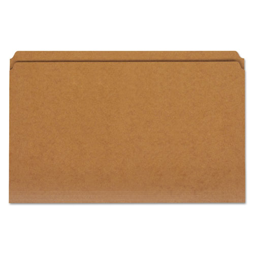 Reinforced Kraft Top Tab File Folders, Straight Tab, Legal Size, Kraft, 100/Box