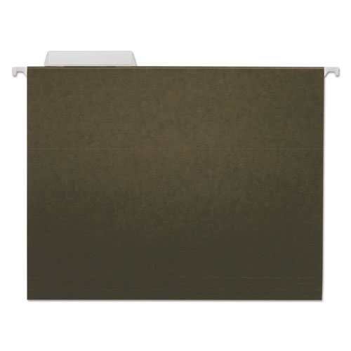Hanging File Folders, Letter Size, 1/3-Cut Tab, Standard Green, 25/Box