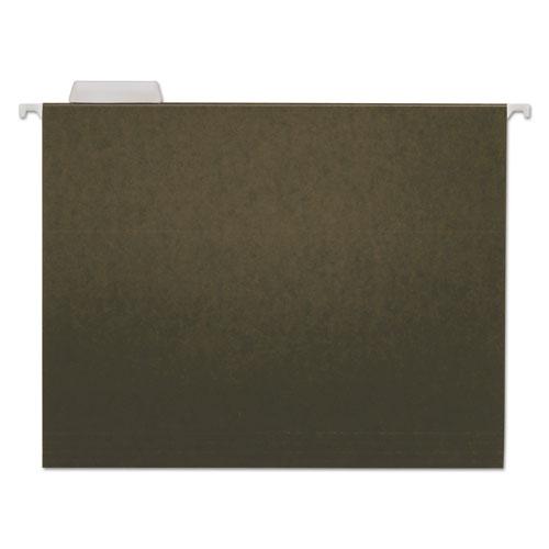 Hanging File Folders, Letter Size, 1/5-Cut Tab, Standard Green, 25/Box | by Plexsupply