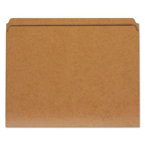 Reinforced Kraft Top Tab File Folders, Straight Tab, Letter Size, Kraft, 100/Box