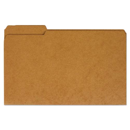 Reinforced Kraft Top Tab File Folders, 1/3-Cut Tabs, Legal Size, Kraft, 100/Box