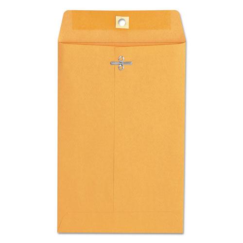 Kraft Clasp Envelope, 55, Square, Clasp/Gummed Closure, 6 x 9, Brown Kraft, 100/Box
