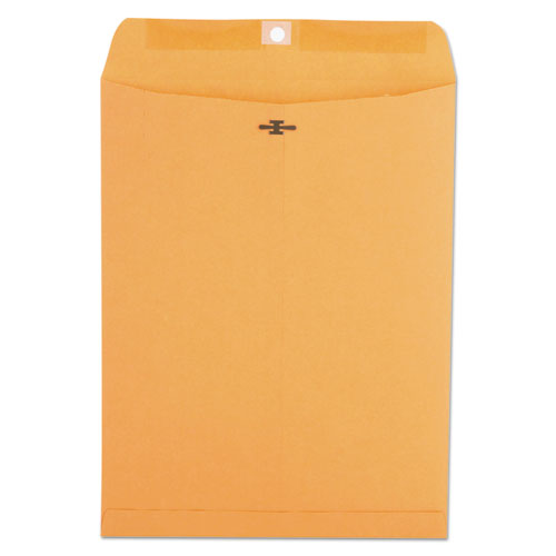 Kraft Clasp Envelope, 93, Square Flap, Clasp/Gummed Closure, 9.5 x 12.5, Brown Kraft, 100/Box