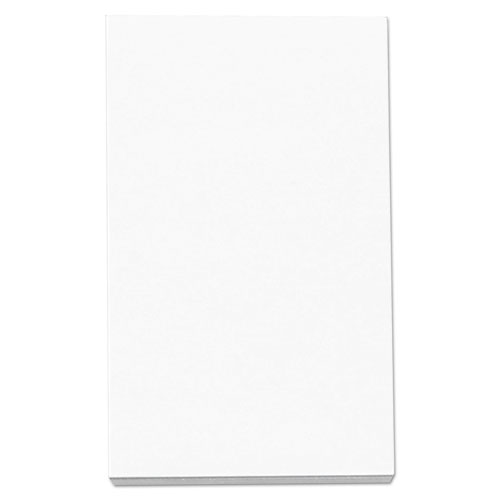 Loose White Memo Sheets, 3 x 5, Unruled, Plain White, 500/Pack