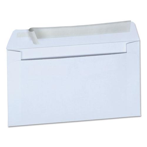 Peel Seal Strip Business Envelope, 6 3/4, Square Flap, Self-Adhesive Closure, 3.63 x 6.5, White, 100/Box