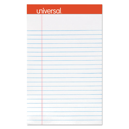 Perforated Ruled Writing Pads, Narrow Rule, 5 x 8, White, 50 Sheets, Dozen | by Plexsupply