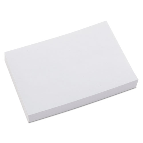 Unruled Index Cards, 4 x 6, White, 100/Pack | by Plexsupply