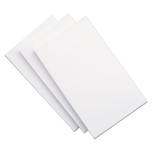 Unruled Index Cards, 5 x 8, White, 500/Pack | by Plexsupply
