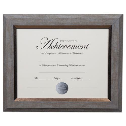 2-Tone Document Frame, 8 1/2 x 11 Insert, Gray/Gold Frame