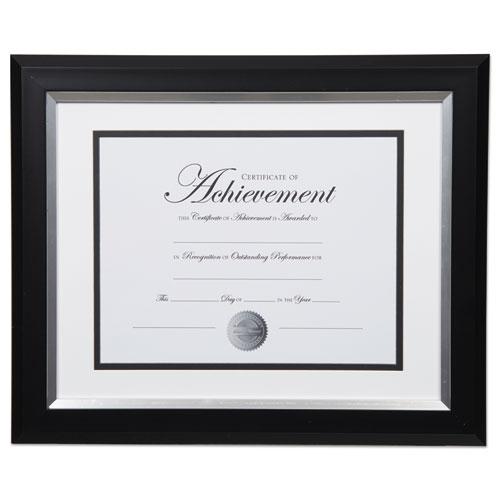 2 Tone 11 X 14 Document Frame 8 12 X 11 Insert Blacksilver Frame