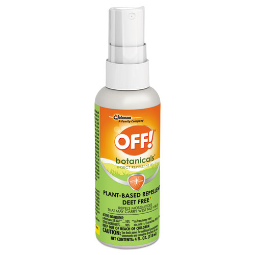 OFF!® Botanicals Insect Repellent, 4 oz Bottle, 8/Carton