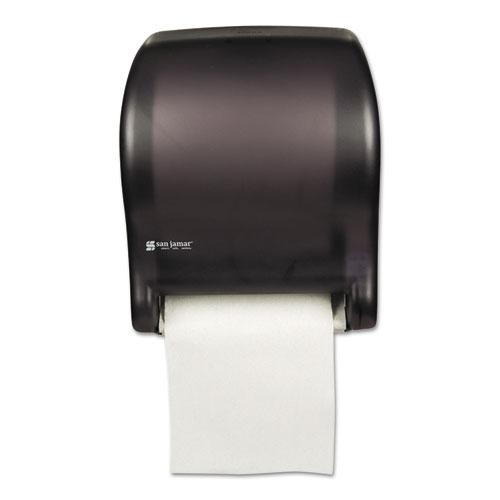 San Jamar® Tear-N-Dry Essence Automatic Dispenser, Classic, Black, 11 3/4 x 9 1/8 x 14 7/16