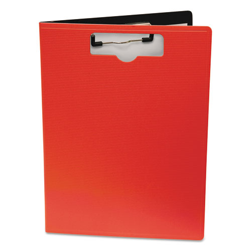 Portfolio Clipboard With Low-Profile Clip, 1/2 Capacity, 8 1/2 x 11, Red