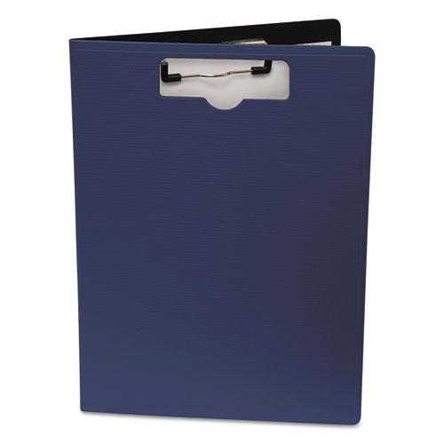Portfolio Clipboard With Low-Profile Clip, 1/2 Capacity, 8 1/2 x 11, Blue