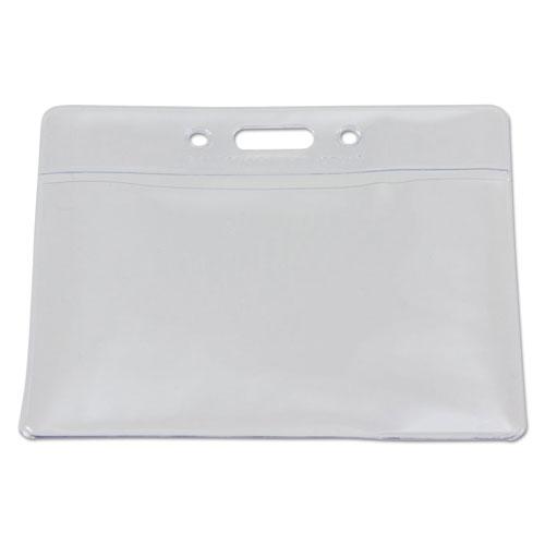 SICURIX Badge Holder, Horizontal, 2.13 x 3.38, Clear, 12/Pack
