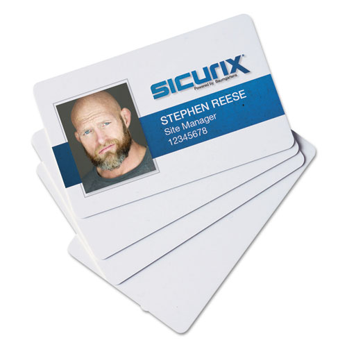 SICURIX Blank ID Card, 2 1/8 x 3 3/8, White, 100/Pack | by Plexsupply