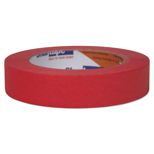 "Color Masking Tape, 3"" Core, 0.94"" x 60 yds, Red 