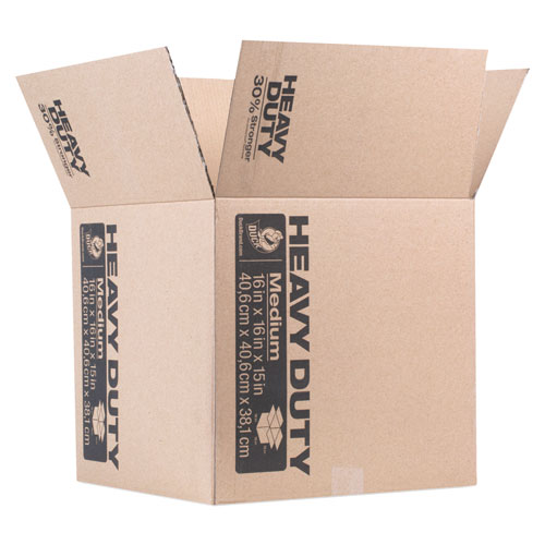 "Heavy-Duty Boxes, Regular Slotted Container (RSC), 16"" x 16"" x 15"", Brown 