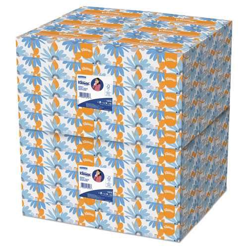 Kleenex® White Facial Tissue, 2-Ply, White, 100/Box, 10 Bx/Bundle, 6 Bundles/Carton