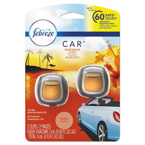 CAR Air Freshener, Hawaiian Aloha, 2 ml Clip, 2/Pack, 8 Packs/Carton