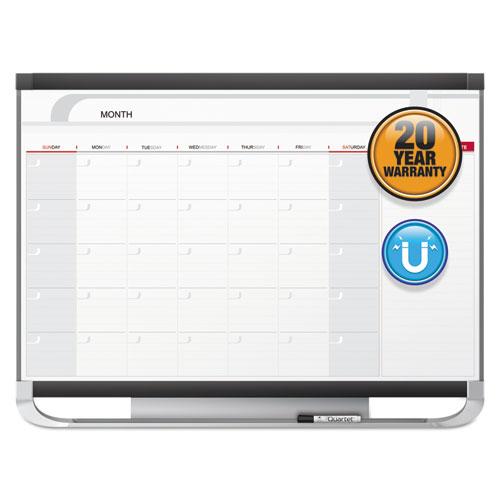 Prestige 2 Magnetic Total Erase Monthly Calendar, 36 x 24, Graphite Color Frame   by Plexsupply