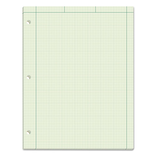 Engineering Computation Pads, 5 sq/in Quadrille Rule, 8.5 x 11, Green Tint, 100 Sheets | by Plexsupply